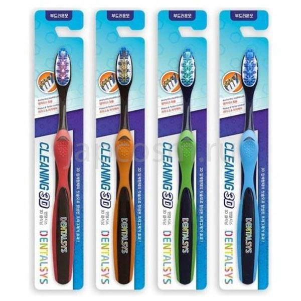 купить корейская зубная щетка 3D очищение средней жесткости Dentalsys Cleaning 3D Toothbrush недорого средства личной гигиены для всей семьи