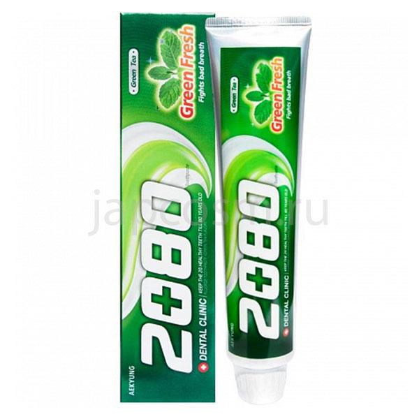 купить корейская Зубная паста Зелёный чай Dental Clinic 2080 Green Fresh Toothpaste сезонные и праздничные распродажи системы скидок