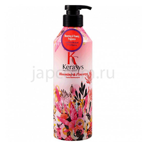 купить корейский парфюмированный шампунь Флёр КераСис KeraSys Blooming & Flowery Perfumed Shampoo интернет магащин japcosm доставка по России