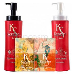 купить подарочный набор: шампунь + кондиционер +косметическое мыло КераСис Ориентал Kerasys Gift Set Oriental Premium интернет магазин japcosm