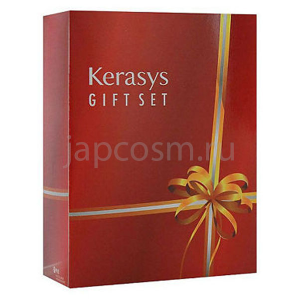 купить подарочный набор: шампунь + кондиционер + косметическое мыло КераСис Салон Кэр Объем Kerasys Gift Set Salon Care Voluming Ampoule