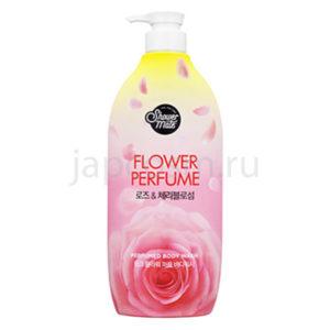купить гель для душа роза КераСис Шауэр Мэйт KeraSys Shower Mate Purple Flower Perfumed Body Wash оптом и в розницу товары из Южной Кореи