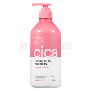 купить корейский шампунь питание для поврежденных волос Derma & More Cica Nourishing Shampoo по выгодной цене оптом и в розницу с самовывощом