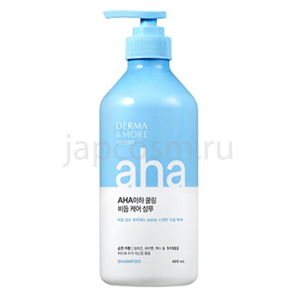 купить корейский шампунь от перхоти Derma & More Aha-cooling Dandruff Care Shampoo интернет магазин товаров из Южной Кореи Японии Тайланда