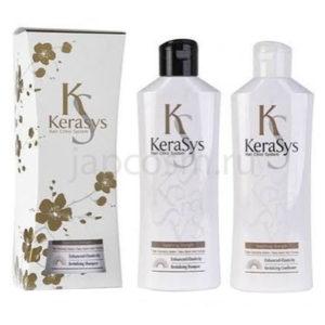купить подарочный набор: оздоравливающий шампунь + оздоравливающий кондиционер КераСис Kerasys Gift Set Revitalizing оптом и в розницу Москва