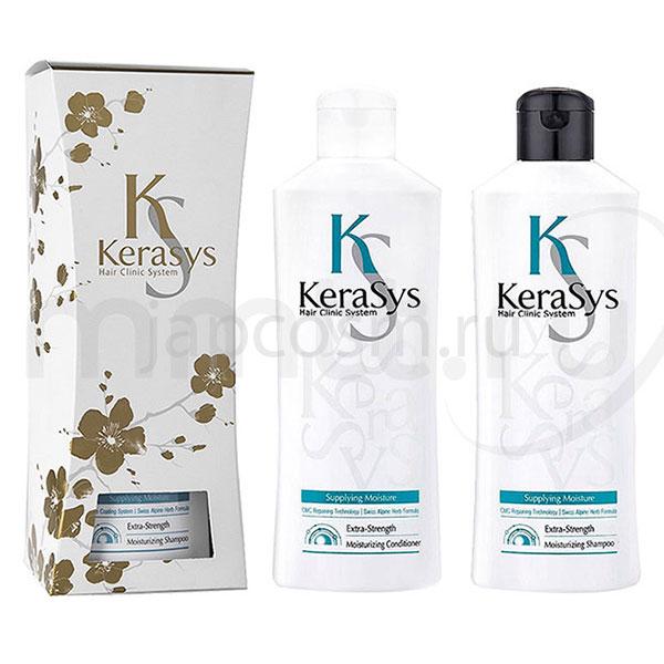купить подарочный набор: увлажняющий шампунь + увлажняющий кондиционер КераСис Kerasys Gift Set Moisturizing на праздник и в будни с доставкой
