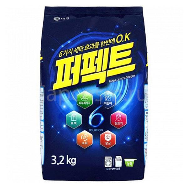 купить корейский порошок стиральный концентрированный Perfect Multi Solution интернет магазин japcosm джапкосм бытовой химии для стирки