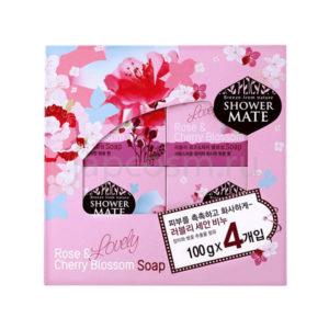 купить туалетное твердое мыло роза и вишневый цвет КераСис Шауэр Мэйт KeraSys Shower Mate Lovely Rose & Cherry Blossom Soap лучшая цена