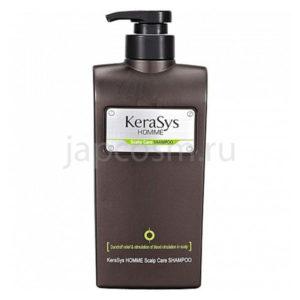 купить шампунь для мужчин лечение кожи головы КераСис KeraSys Homme Scalp Care Shampoo мужская косметика Южная Корея оптом доставка по России