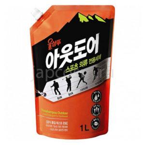 купить корейское жидкое средство для стирки спортивной одежды Вул Шампу Wool Shampoo Outdoor for Sportswear бытовая химия для дома стирки