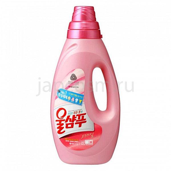 купить корейское жидкое средство для стирки Оригинальный Вул Шампу Wool Shampoo Original средство для стирки синтетических тканей недорого