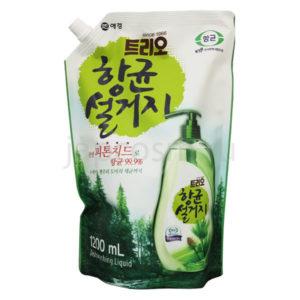 купить корейское средство для мытья посуды фитонциды Трио Trio Phytoncide Antibacterial Dishwashing бытовая химия для дома стирки мытья посуды