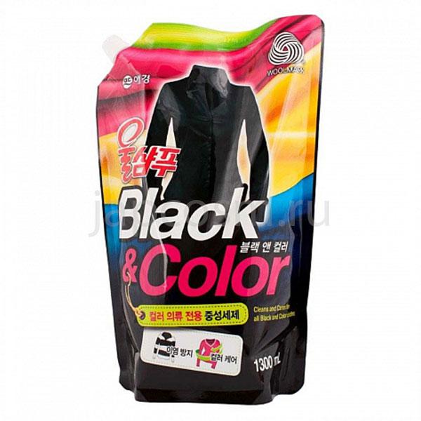купить корейское жидкое средство для стирки чёрное и цветное Вул Шампу Wool Shampoo Black & Color средство для стирки шерсти шелка хлопка