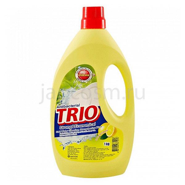 купить корейское антибактериальное средство для мытья посуды Лимон Трио Trio Antibacterial Strong & Economical бытовая химия для кухни и дома