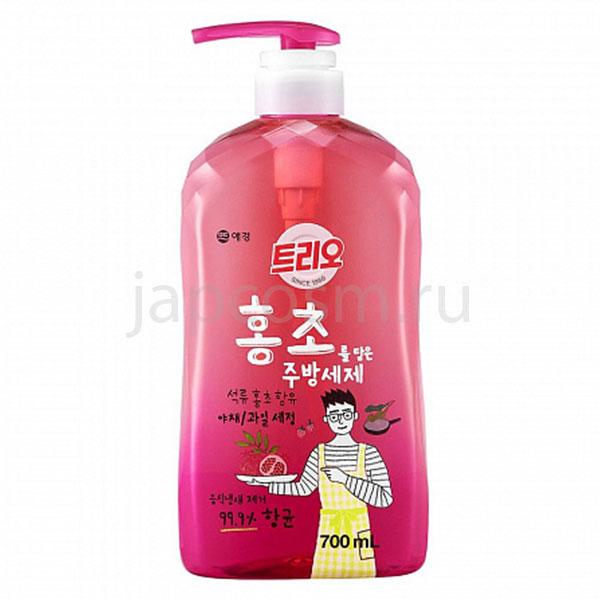 купить корейское средство для мытья посуды Гранат Трио Trio Red Vinegar Dishwash интернет магазин japcosm джапкосм бытовая химия для дома