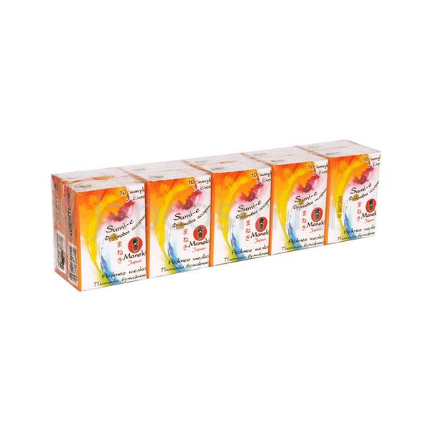 купить платочки бумажные трехслойные с ароматом фруктов Maneki Sumi-e интернет магазин товаров japcosm джапкосм недорого товары из Японии