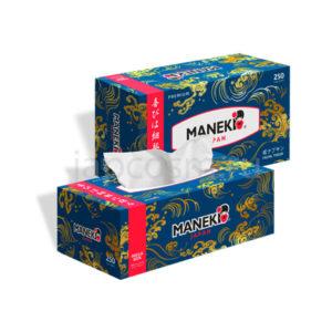 купить салфетки бумажные двухслойные серия Океан Maneki Ocean магазин японская бытовая химия оптом и в розницу удобные условия доставки