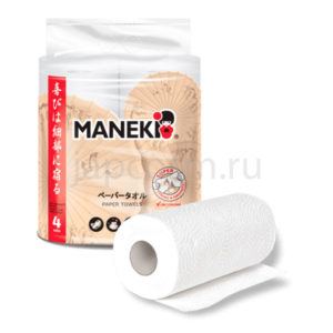 купить полотенца бумажные двухслойные рулонные Maneki Kabi интернет магазин товаров из Японии Южной Кореи Китая Тайланда Азии Европы России