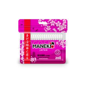 купить ватные гигиенические палочки с белым бумажным стиком в zip-пакете Maneki Sakura, интернет магазин товаров из Японииоптом и в розницу